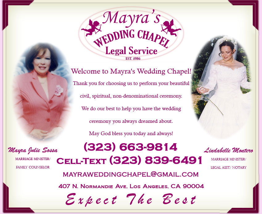 myras wedding chapel